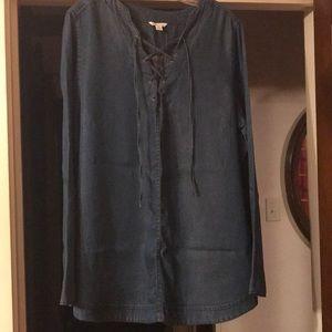 Cato Denim-Look Tunic Size XL